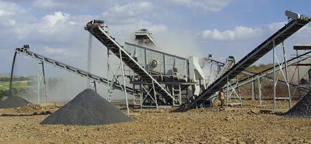 菲律賓時產300噸砂石制作現場